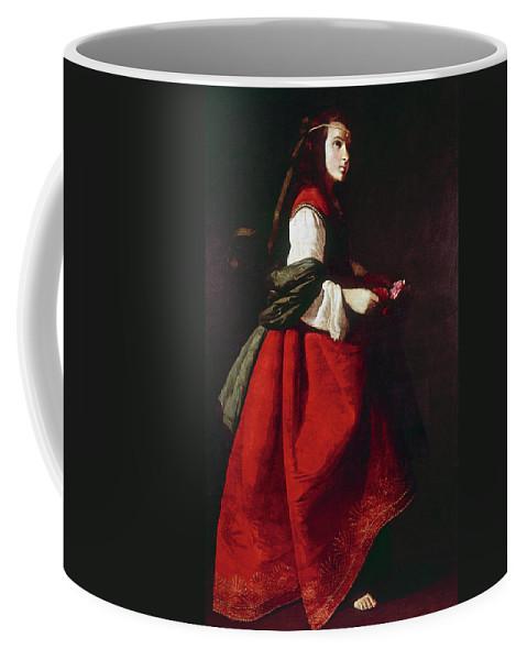1642 Coffee Mug featuring the painting Zurbur�n Saint Casilda by Granger