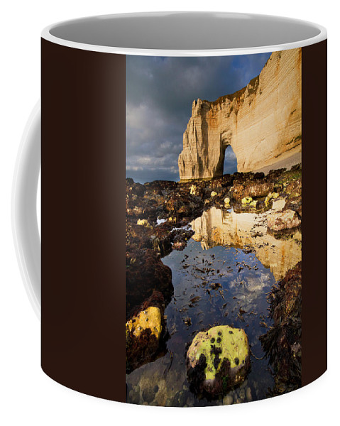 Atalntic Coffee Mug featuring the photograph Haute-normandie Seascape by Mircea Costina Photography
