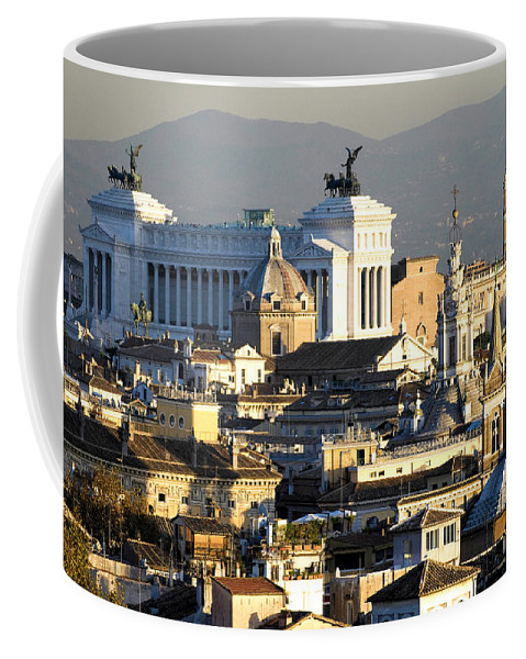 Rome Coffee Mug featuring the photograph Rome's Rooftops by Fabrizio Troiani
