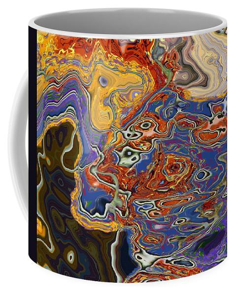 Abstract Coffee Mug featuring the digital art 0615 Abstract Thought by Chowdary V Arikatla