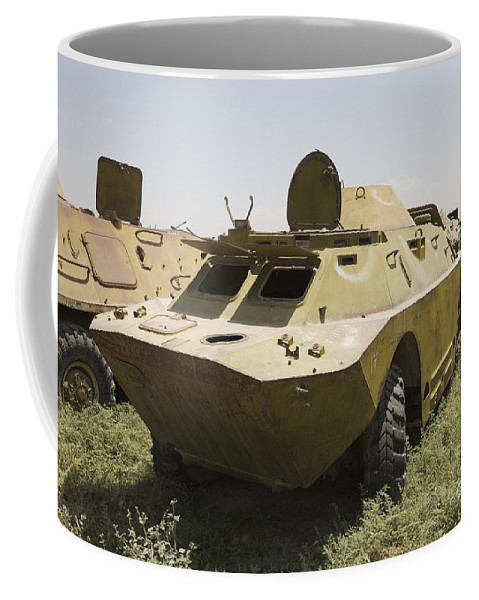 4x4 Coffee Mug featuring the photograph A Brdm-2 Combat Reconnaissancepatrol by Terry Moore