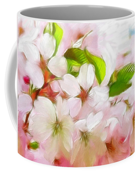Japanese Coffee Mug featuring the pastel A Day In Spring by Steve K