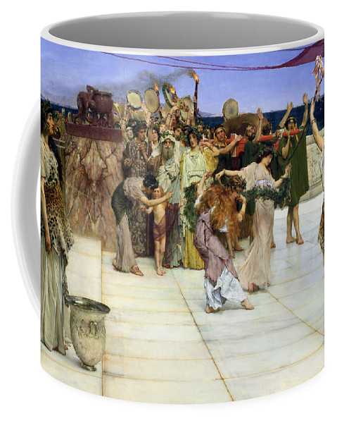 Dedication Coffee Mug featuring the painting A Dedication To Bacchus by Sir Lawrence Alma-Tadema