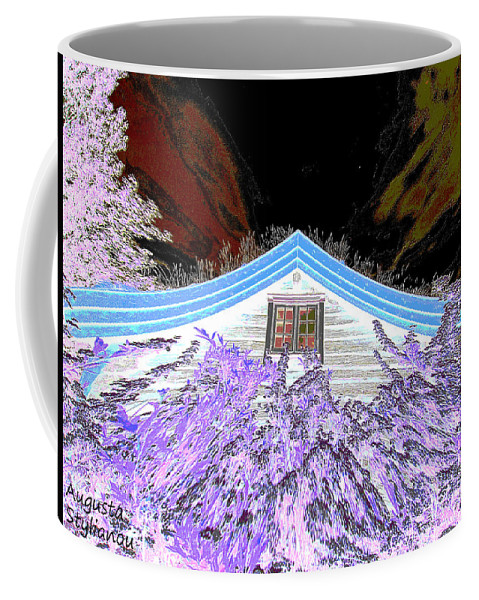 Flowery House Coffee Mug featuring the digital art A Flowery House In Norway by Augusta Stylianou