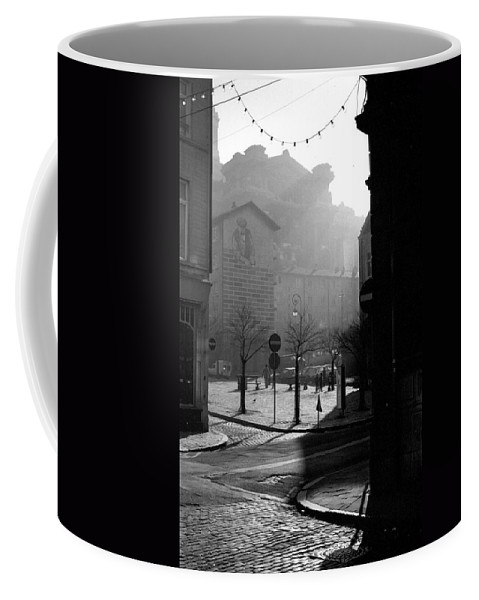 Brussels Coffee Mug featuring the photograph A Square In Old Brussels by Peter Mooyman