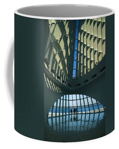 North America Coffee Mug featuring the photograph A View Of The Inside Of The Milwaukee by Medford Taylor