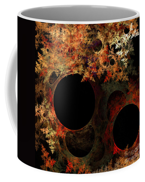 Fractal Digital Art Coffee Mug featuring the photograph Abstract 176 by Mike Nellums