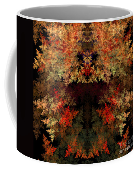 Fractal Digital Art Coffee Mug featuring the photograph Abstract 177 by Mike Nellums