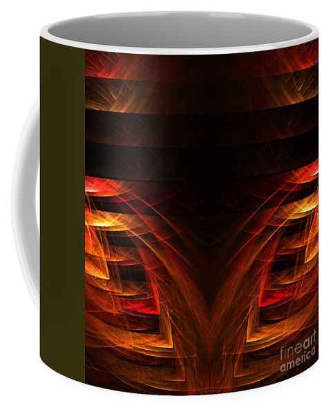 Fractal Digital Art Coffee Mug featuring the photograph Abstract Forty-eight by Mike Nellums