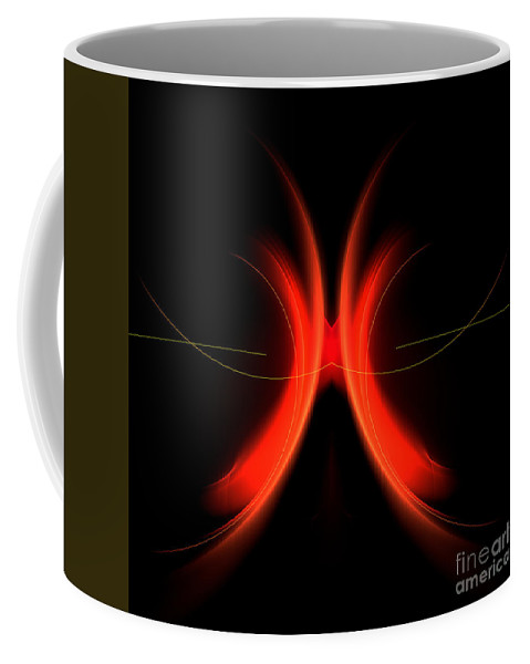 Fractal Digital Art Coffee Mug featuring the photograph Abstract Forty-five by Mike Nellums