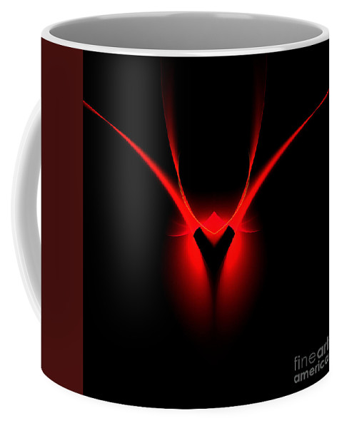 Fractal Digital Art Coffee Mug featuring the photograph Abstract Forty-four by Mike Nellums