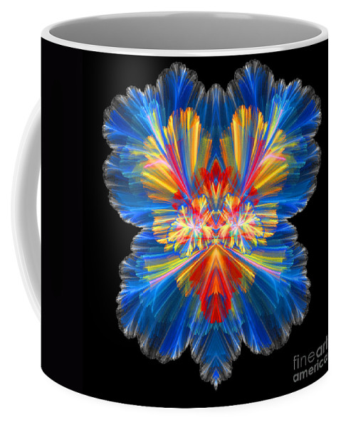 Fractal Digital Art Coffee Mug featuring the photograph Abstract Forty-nine by Mike Nellums