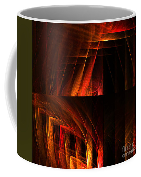 Fractal Digital Art Coffee Mug featuring the photograph Abstract Forty-seven by Mike Nellums