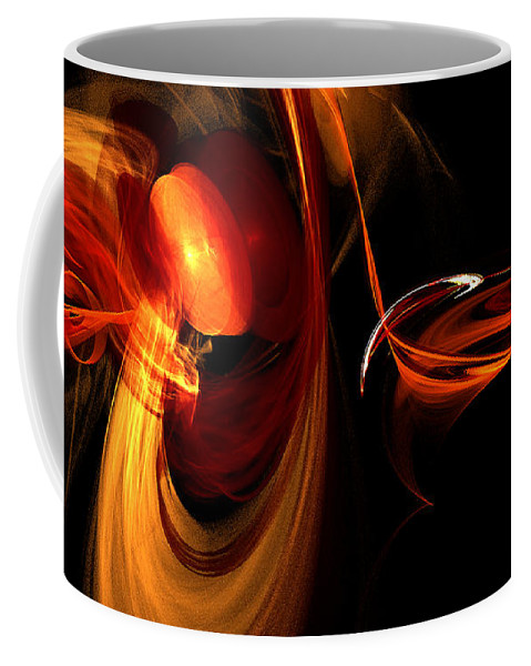 Fractal Digital Art Coffee Mug featuring the photograph Abstract Four by Mike Nellums