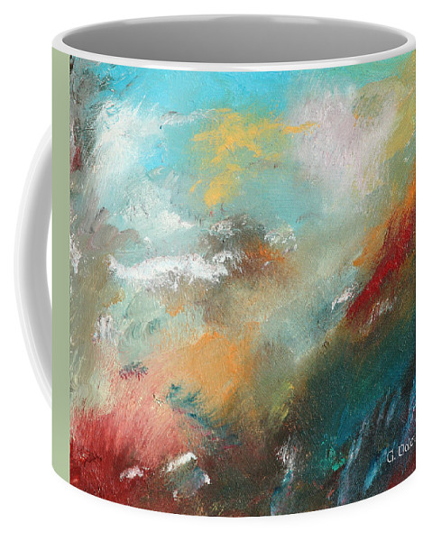 Abstract Coffee Mug featuring the painting Abstract No 1 by Gail Daley