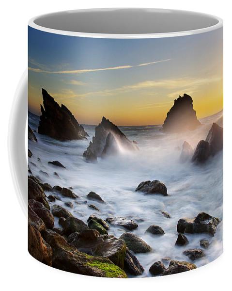 Adraga Coffee Mug featuring the photograph Adraga Beach by Carlos Caetano