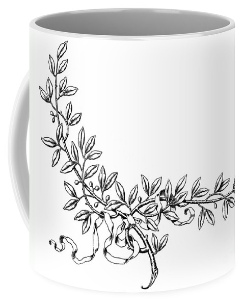 19th Century Coffee Mug featuring the photograph Advertising Art: Wreath by Granger