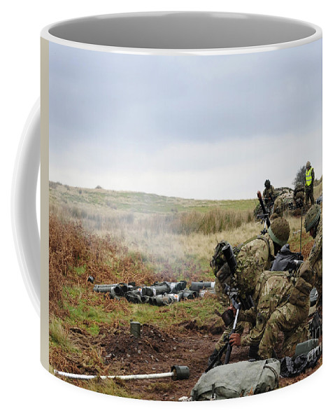 81mm Coffee Mug featuring the photograph An 81mm Mortar Team Live Firing by Andrew Chittock