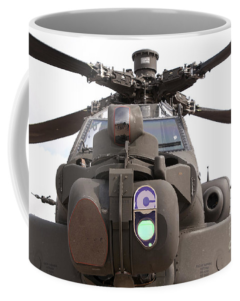 Aviation Coffee Mug featuring the photograph An Ah-64d Apache Helicopter by Ramon Van Opdorp