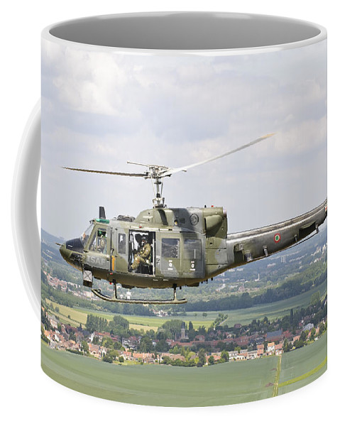Transportation Coffee Mug featuring the photograph An Italian Air Force Ab-212ico by Giovanni Colla