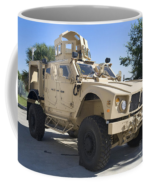 Mrap Coffee Mug featuring the photograph An Oshkosh M-atv Mine Resistant Ambush by Stocktrek Images