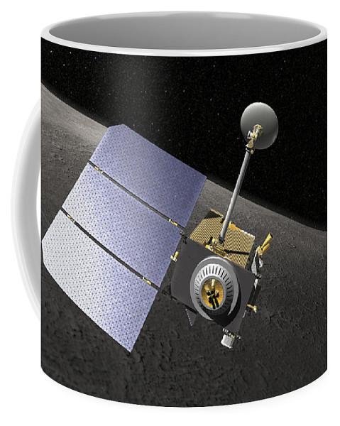 Orbit Coffee Mug featuring the digital art Artists Concept Of The Lunar by Stocktrek Images