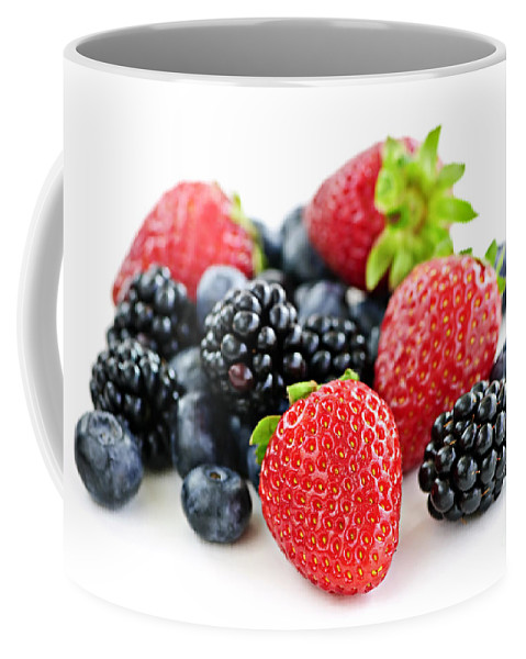 Berries Coffee Mug featuring the photograph Assorted Fresh Berries by Elena Elisseeva
