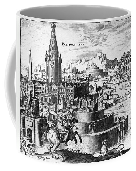 1638 Coffee Mug featuring the photograph Babylon: Hanging Gardens by Granger