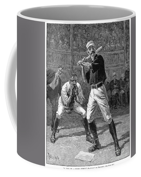 1888 Coffee Mug featuring the photograph Baseball, 1888 by Granger