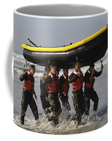 Raising Coffee Mug featuring the photograph Basic Underwater Demolitionseal by Stocktrek Images