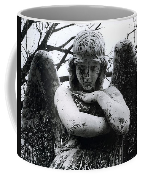 Angel Coffee Mug featuring the photograph Bellefontaine Angel by Jane Linders