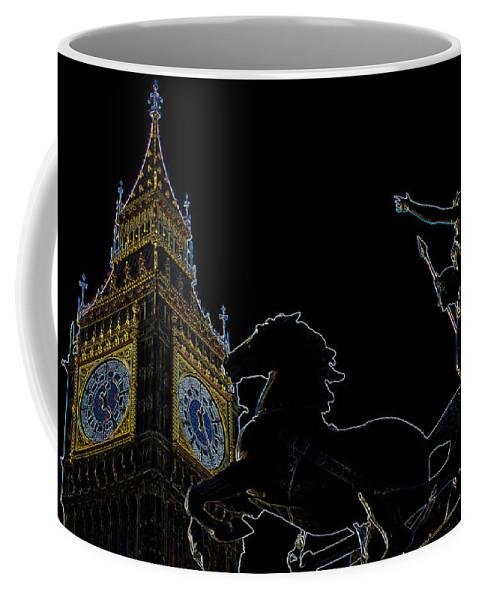 Digital Coffee Mug featuring the digital art Big Ben And Boudica by David Pyatt