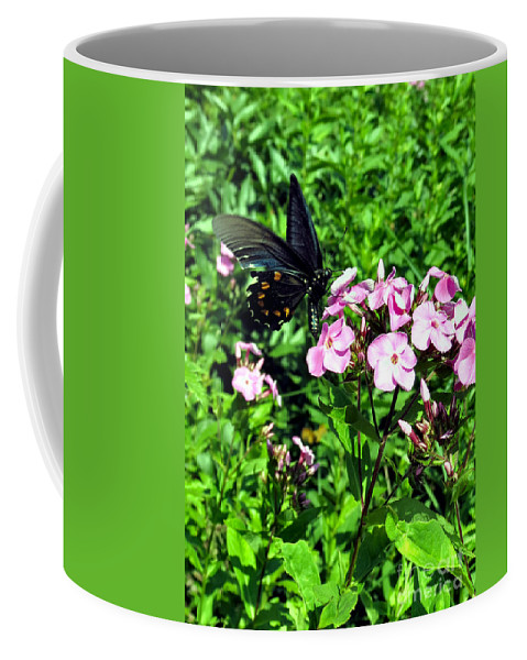 Black Coffee Mug featuring the photograph Blackie by Art Dingo
