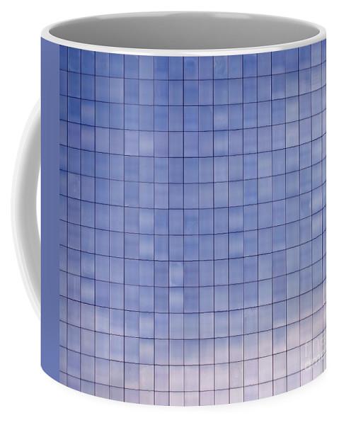 Modern Coffee Mug featuring the photograph Blue Building Facade by Yali Shi