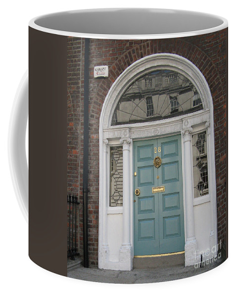 Closed Door Coffee Mug featuring the photograph Blue Door by Arlene Carmel