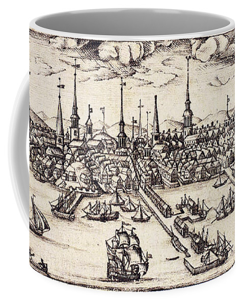 1743 Coffee Mug featuring the photograph Boston, 1743 by Granger