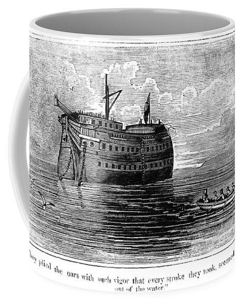 1770s Coffee Mug featuring the photograph British Prison Ship, 1770s by Granger