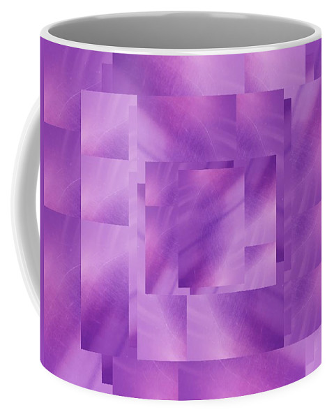Abstract Coffee Mug featuring the digital art Brushed Purple Violet 3 by Tim Allen