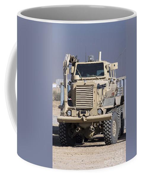 Buffalo Coffee Mug featuring the photograph Buffalo Mine Protected Vehicle by Terry Moore