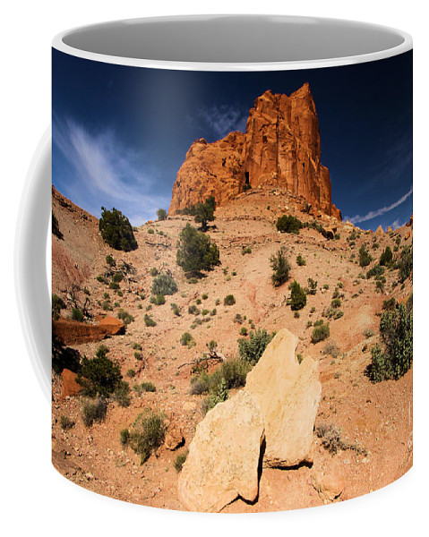 Capitol Reef National Park Coffee Mug featuring the photograph Castle In The Sky by Adam Jewell