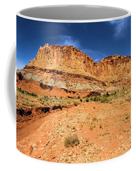 Capitol Reef National Park Coffee Mug featuring the photograph Castles In The Sky by Adam Jewell