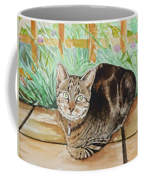 Cat Coffee Mug featuring the painting Cat Commission Sample by Andrew Read