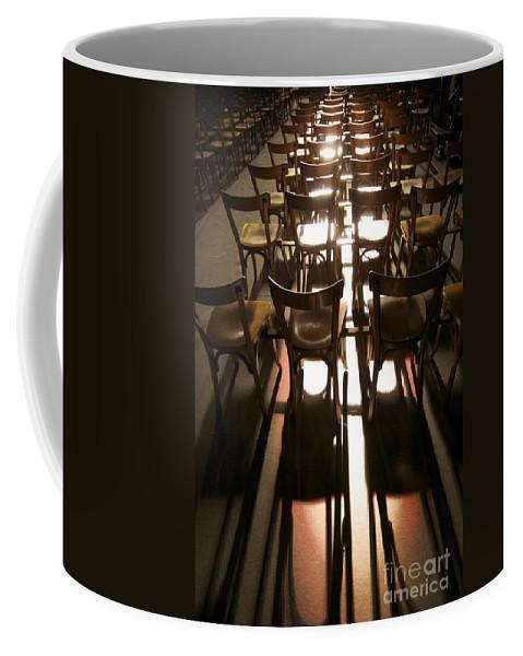 Absence Coffee Mug featuring the photograph Chairs by Bernard Jaubert