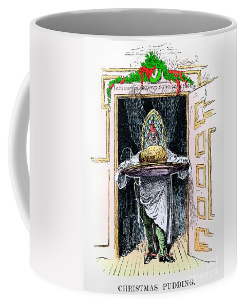 1882 Coffee Mug featuring the photograph Christmas Pudding, 1882 by Granger