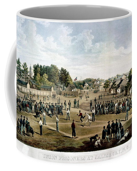 1863 Coffee Mug featuring the photograph Civil War: Union Prisoners by Granger