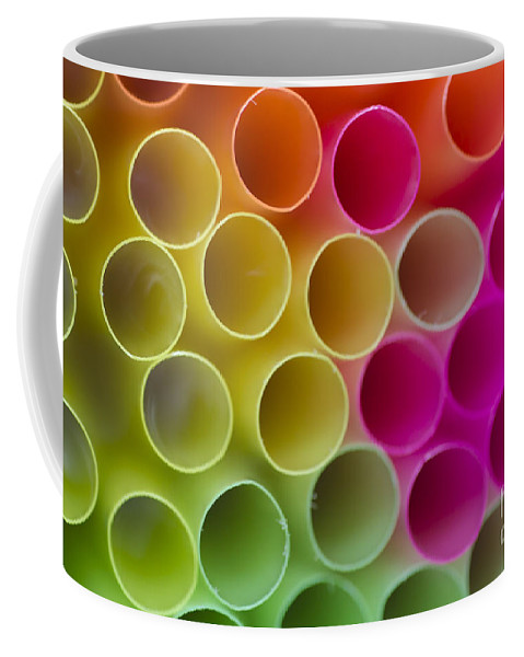 Straws Coffee Mug featuring the photograph Colorful Straws by Mats Silvan