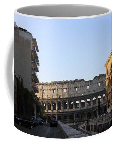 Colosseum Coffee Mug featuring the photograph Colosseum Early Morning by Munir Alawi