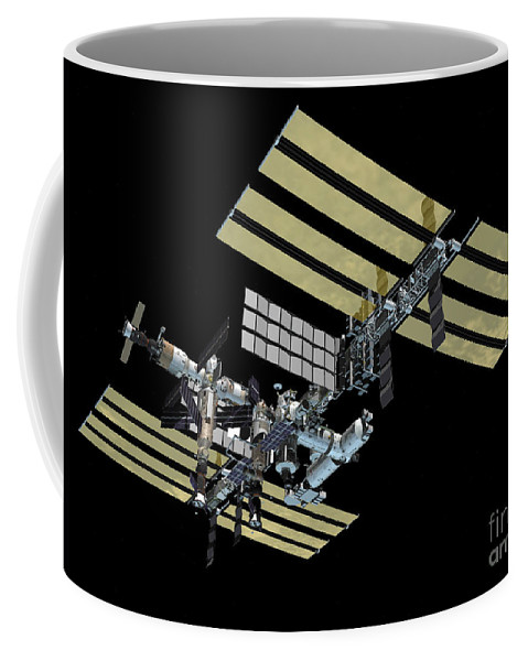 Color Image Coffee Mug featuring the digital art Computer Generated View by Stocktrek Images