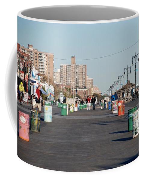 Brooklyn Coffee Mug featuring the photograph Coney Island Boardwalk by Rob Hans