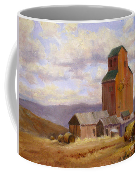 Coffee Mug featuring the painting Countryside by Mohamed Hirji
